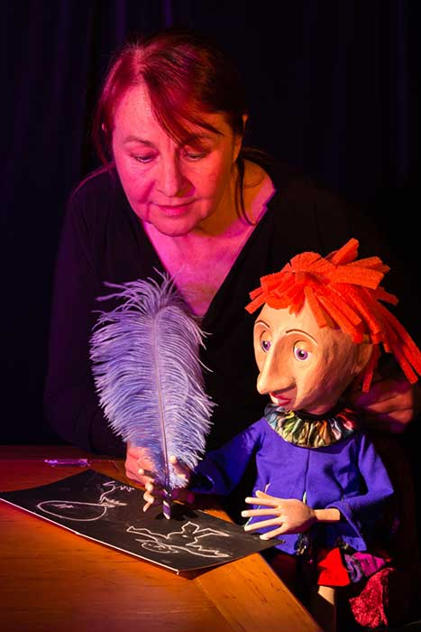 Puppeteer Sue Wallace at work.  Image courtesy of promoter.