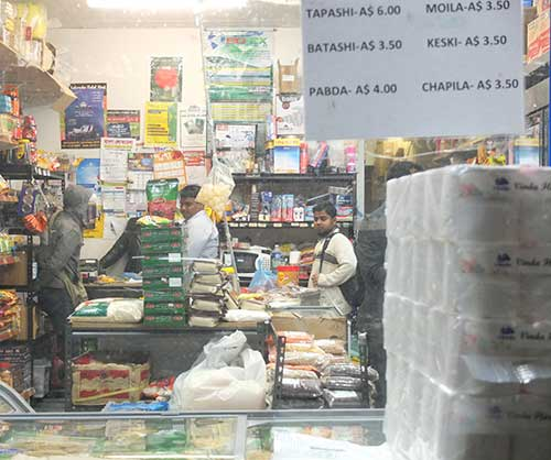 Inside one of the stores which will be used as a stop during the Bengali Food Tour