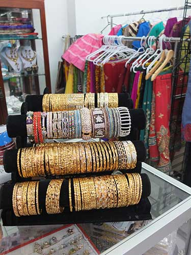 Adornments in a Lakemba clothing store