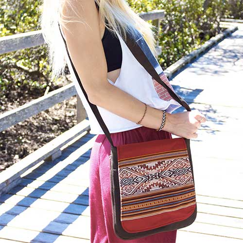 "Ethica Accessories ""Inca"" bag. Image from Ethica's website."